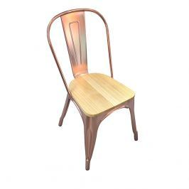 Krzesło 45x51x83cm King Home Tower różowe złoto