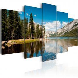 Obraz - Górskie jezioro wczesnym latem (100x50 cm)