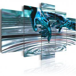 Obraz - Wodne kręgi (100x50 cm)