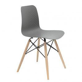 OUTLET Krzesło KRADO DSW szare - polipropylen, podstawa bukowa