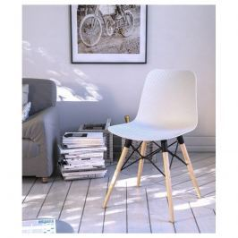 Krzesło designerskie Vigo Białe