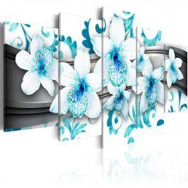 Obraz - Przyjemność wśród błękitu (100x50 cm)