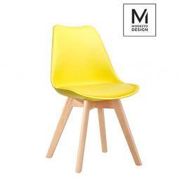 Krzesło Nordic Modesto Design żółte -podstawa dębowa