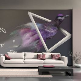 Fototapeta - ptak (abstrakcja) (200x154 cm)