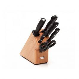 Zestaw 4 noży+stalka+nożyce w bloku Gourmet - Wüsthof