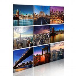 Obraz - Nowy Jork w dziewięciu odsłonach (60x60 cm)