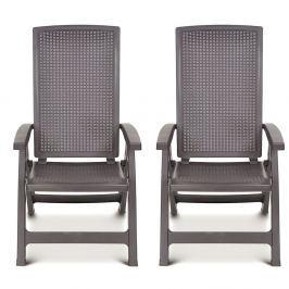 2x Krzesło regulowane Montreal : Kolor - cappuccino