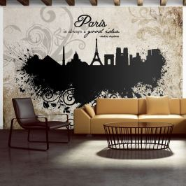 Fototapeta - Paris is always a good idea - vintage (300x210 cm)