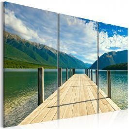 Obraz - Molo na jeziorze (60x40 cm)