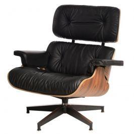 Fotel 82x85x54cm D2 Vip czarny/rosewood/standard base