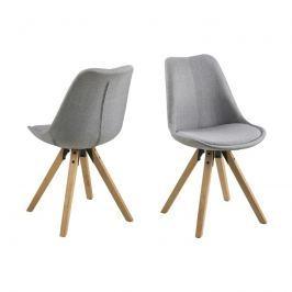 Krzesło Dima VIC Actona jasnoszare-drewno kauczukowe