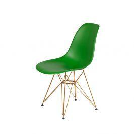 Krzesło DSR Gold King Home irlandzka zieleń