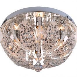 Plafon Basti 4 Lampex srebrno-przezroczysty