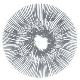 Patera 32,8cm Koziol Anemone szara