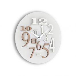 Zegar ścienny Incantesimo Design Free drewno bielone