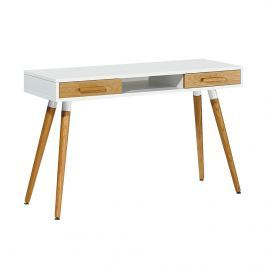 Biurko 120x75cm King Home Bergen drewniane/białe