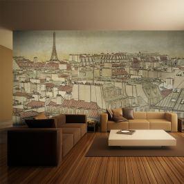 Fototapeta - Żegnaj Paryżu (550x270 cm)