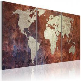 Obraz - Stalowe kontynenty (60x30 cm)