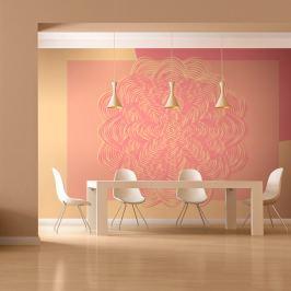 Fototapeta - Różowy ornament (200x154 cm)