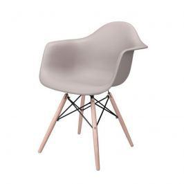 Krzesło 62x47x80cm Quadre Eiffel Wood Arm szare