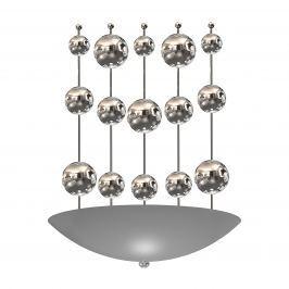 Kinkiet 28x38cm Milagro Perla Silver srebrny