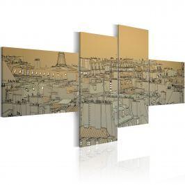 Obraz - Ponad dachami Paryża (Retro) (100x45 cm)