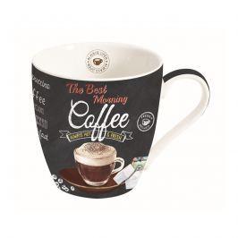 Kubek porcelanowy do kawy 0,35L Nuova R2S czarny transparent