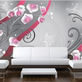 Fototapeta - Różowe orchidee - wariacja (300x210 cm)