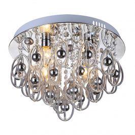 Plafon Hissar 4 Lampex srebrny