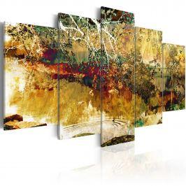 Obraz - ogród: abstrakcja (100x50 cm)