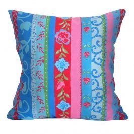 Poduszka dekoracyjna 40x40cm Bazkar niebiesko-różowa