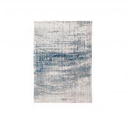 Dywan naturalny 140x200 cm Louis De Poortere Mad Man Bronx Azurite niebiesko biały