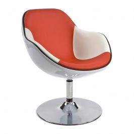 Fotel Daytona Kokoon Design biało-czerwony