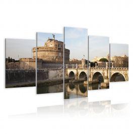 Obraz - Most św. Anioła o poranku (100x50 cm)