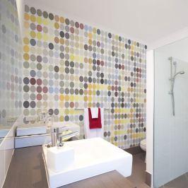 Fototapeta - Colored polka dots (200x154 cm)