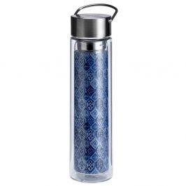 Butelka szklana 350ml na herbatę z pokrowcem Eigenart Indigo