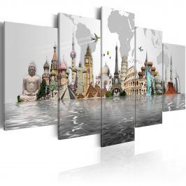 Obraz - Zabytki kultury (100x50 cm vlies-leinwand cm)