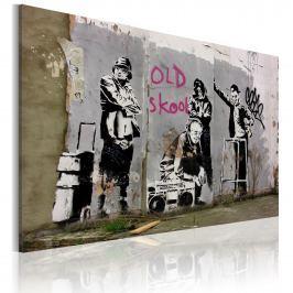 Obraz - Old school (Banksy) (60x40 cm)