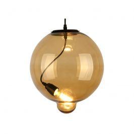 Lampa wisząca 30x30cm Altavola Design Modern Glass Bubble koniak