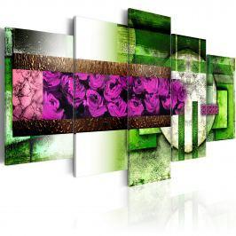 Obraz - Ogród-abstrakcja (100x50 cm)
