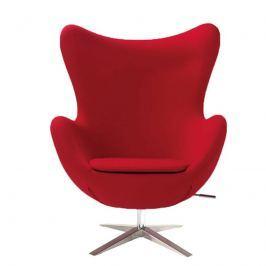 Fotel szeroki 80x110x70cm King Home Egg czerwony