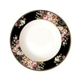 Talerz na zupę 22,5cm Nuova R2S Blooming Opulence czarny
