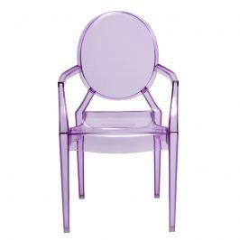 Krzesło D2 Royal Jr fioletowy transparentny