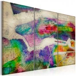Obraz - Mapa Nowego Jorku: Brooklyn (60x40 cm)