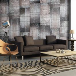 Fototapeta - Mosiężna ściana (50x1000 cm)