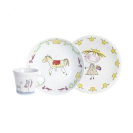 Zestaw porcelanowy dla dzieci Księżniczka 3szt Kahla Kids Magic Grip