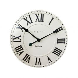 Zegar 34,5 cm NeXtime London Roman biały