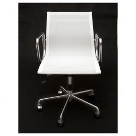 Fotel biurowy CH1171T biała siateczk,chr