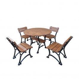 Meble ogrodowe Restor bez podłokietników 100cm Fiemar brązowe