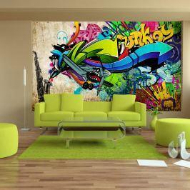 Fototapeta - Funky - graffiti (300x210 cm)